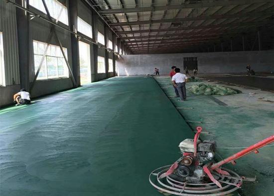 绿色金刚砂耐磨地坪